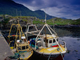 Trawlers at Rosroe in Killary Harbour, Connemara, Ireland Photographic Print by Gareth McCormack