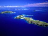 Yanuya Island on Right and Tavua Island on Left, Fiji Photographic Print by David Wall