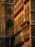 Flower Boxes on the Vienna City Hall Building, Vienna, Austria Photographic Print by Martin Moos
