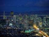 Lights of Market Street Seen from Twin Peaks, San Francisco, USA Photographic Print by John Elk III