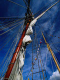 Rigging of La Recouvrance, Brest, Brittany, France Photographic Print by Jean-Bernard Carillet