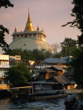 Wat Saket's Golden Mountain and Chedi, Bangkok, Thailand Photographic Print by John Elk III