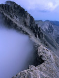Trekkers Climbing Towards Mytikas on Mt. Olympus, Mytikas, Greece Photographic Print by Mark Daffey