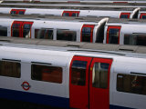 Tube Trains, London, United Kingdom Photographic Print by Charlotte Hindle