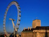 London Eye Ferris Wheel, London, England Fotoprint van Paul Kennedy