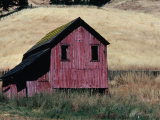 Weathered Wooden Barn in Dry Fields off Highway 128 Near Boonville, California, USA Photographic Print by Jeffrey Becom