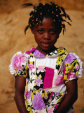 Portrait of Young Girl, Looking at Camera, Sassandra, Cote d'Ivoire Photographic Print by Pershouse Craig