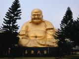 Buddha Statue at Paochueh Temple, Taichung, Taiwan Photographic Print by Martin Moos