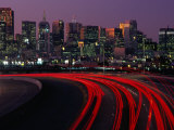 Freeway 280 and Skyline at Sunset, San Francisco, California, USA Photographic Print by Roberto Gerometta