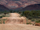 Dirt Road Through Mcdonnell Ranges West Macdonnell National Park, Northern Territory, Australia Photographic Print by John Hay