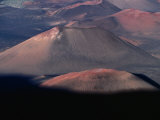 Aerial View of Volcanic Crater, Haleakala National Park, USA Photographic Print by Peter Hendrie