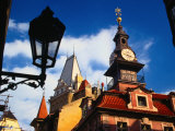 Detail of Jewish Town Hall Exterior, Prague, Czech Republic Photographic Print by Jonathan Smith