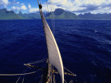 Mainstay of Tallship, Bora Bora, the French Polynesia Photographic Print by John Borthwick