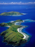 Aerial View of Islands with Yanuya Island in Foreground, Fiji Photographic Print by David Wall