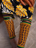Beaded Ankle and Leg Decoration from San Blas Islands, Panama, Photographic Print