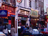 Restaurants in Chinatown, London, England Photographic Print by Richard I'Anson