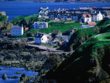 Village on Coldingham Bay, St. Abb's, United Kingdom Photographic Print by Nicholas Reuss