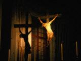 Jesus on the Cross Inside Santissima Annunziata Del Vastato, Genova, Liguria, Italy Photographic Print by Martin Moos