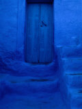 Painted Door, Wall and Steps, Pothia, Kalymnos, Greece Photographic Print by Jeffrey Becom