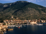 Komiza Harbour View, Croatia Photographic Print by Wayne Walton