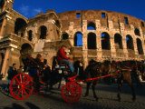 Horse-Drawn Carriage at the Colosseum, Rome, Italy Photographic Print by Martin Moos
