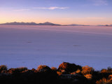 Sunrise Across the Salt Flats, Salar De Uyuni, Bolivia Photographic Print by Ryan Fox