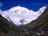 Snow-Covered Mountain Peak, Jhomolhari, Bhutan Photographic Print by Nicholas Reuss