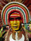 Portrait of Highlander, Port Moresby, Papua New Guinea Photographic Print by Michael Coyne