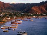 Harbor of Fishing Village Near Santa Marta, Taganga, Colombia, Photographic Print