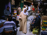 Street Traders in Grand Bazaar Khan Al-Khalili, Cairo, Egypt Photographic Print by Mark Daffey