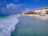 Beach Front Apartments and Hotels, Playa Del Carmen, Quitana Roo, Mexico Photographic Print by John Elk III