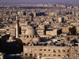 Overhead of the Roofs, Buildings, Domes and Towers of Aleppo from the Ramparts the Citadel, Syria Fotografiskt tryck av Mark Daffey