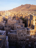 Overhead of Rooftops and Buildings of Town, San'a, Yemen Photographic Print by Bethune Carmichael