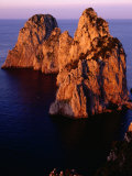 Large Rocks on Coast, Capri, Italy Photographic Print by Stephen Saks