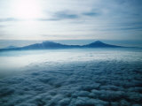 Mountains Peaks Poking Through Clouds, Acapulco, Guerrero, Mexico Photographic Print by Eric Wheater