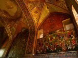 Intricate Frescoes in the Chehel Sotun Museum and Park, Esfahan, Iran Photographic Print by Phil Weymouth