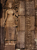 Detailed Carving at Bayon Angkor, Siem Reap, Cambodia Photographic Print by Glenn Beanland