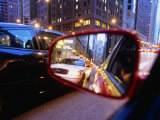 City Traffic Reflected in a Car Side Mirror, Chicago, Illinois, USA Photographic Print by Ray Laskowitz