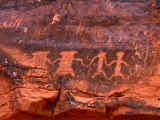 Petroglyphs, Valley of Fire State Park, Valley of Fire State Park, Nevada, USA Photographic Print by Carol Polich