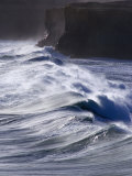 Waves Crashing on Cliffs, Port Campbell National Park, Australia Photographic Print by Rodney Hyett