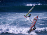 Windsurfing the Tradewinds, Hookipa, Maui, Hawaii, USA Photographic Print by Karl Lehmann