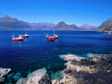 Fishing Boats with the Black Cuillin Behind, Elgol, Isle of Skye, Scotland Stampa fotografica di Gareth McCormack