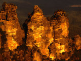 The Three Sisters Rock Formation, Blue Mountains National Park, New South Wales, Australia Photographic Print by Dallas Stribley