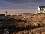 Marshall Point Lighthouse and House on Port Clyde, Maine, USA Photographic Print by Stephen Saks