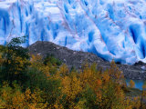 Autumn Colours and Icefall at Briksdalsbreen Glacier, Finnmark, Norway Photographic Print by Anders Blomqvist