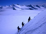 Mountaineers Ascending the Peaks Above Shackleton Gap, Antarctica Photographic Print by Grant Dixon