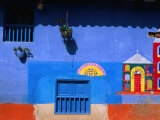 Detail of Side of House, Raquira, Colombia Photographic Print by Krzysztof Dydynski