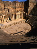 Looking Down the Steps Towards the Stage of an 11th Century Theatre, Bosra, Syria Photographic Print by Mark Daffey