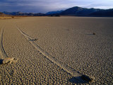 Moving Rocks of Death Valley, Death Valley National Park, California, USA Photographic Print by Brent Winebrenner