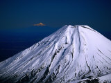 Aerial of Mt. Ngauruhoe, Tongariro National Park, Manawatu-Wanganui, New Zealand Photographic Print by David Wall